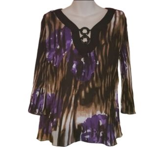 Signature by Larry Levine Size Small Pleated Top